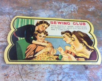 Antique vintage club needle book sewing club ladies women hand 50s
