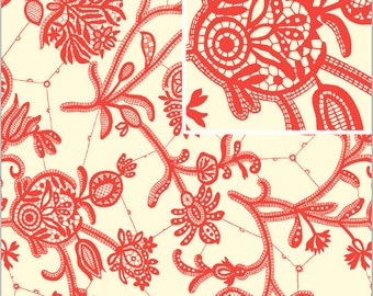 Amy Butler Lark Ivory Souvenir Quilers Cotton 1 Yd