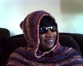 Knit Hooded Cowl, Chunky Scoodie, Knit Hoodie Cowl, Knit Hooded Scarf, Knit Chunky Cowl and Hood, Ready to ship