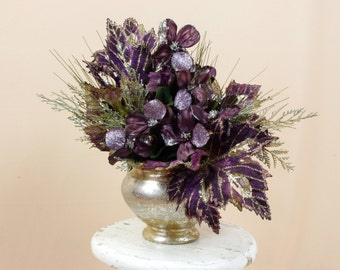 Victorian Centerpiece * Purple Arrangement * Purple and Gold * Spring Decor * Spring Arrangement * Floral Centerpiece * Summer Decor