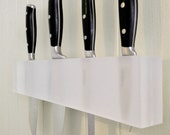 Frosted Translucent Resin Kitchen Knife Holder, Wall Knife Block, Wall Knife Block-Modern Minimalism at It's Best