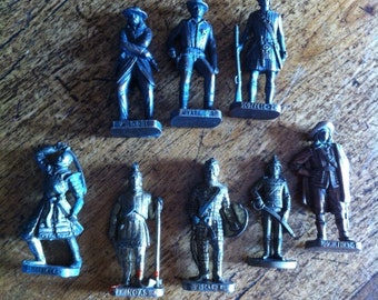 Collection of 8 miniature figures : patented !! Made in Italy - Wyatt Earp - figurines - soldiers - miniatures - collection