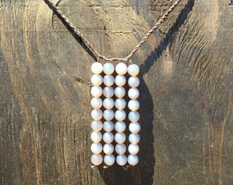 Faceted Grey Agate Necklace