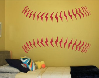 Baseball Softball Stitches Vinyl Wall Decal