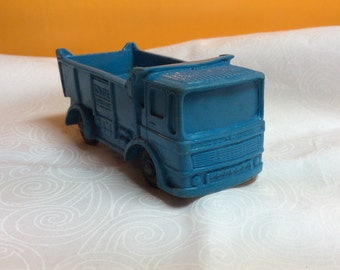 Antique Tomte Toy Truck, Blue Tomte Lardal Transfort Dumptruck , Made in Norway , Rubber truck toy Stavanger - Norway # 26 Colllectibles