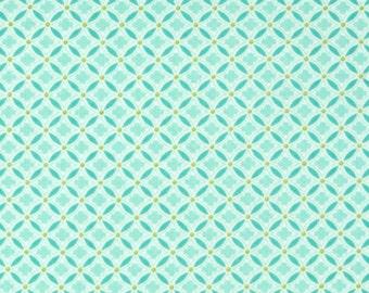 Carina Diamond in Aqua by Benartex Fabrics   Aqua and Green Diamond Fabric   Carina Collection 06185
