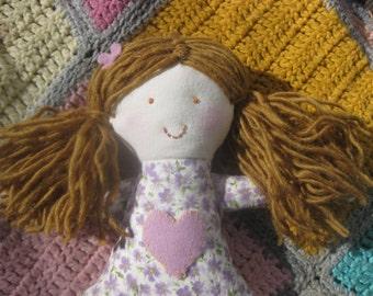 Rag Doll/soft cloth doll/handmade fabric doll