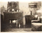 Fancy New Wallpaper Vintage Photo  K17303 Living Room Fireplace Picture on Wall Furniture Abstract Art