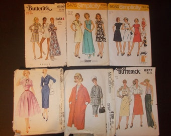 Inventory 77 Vintage Sewing Patterns Lot of 6 size 16