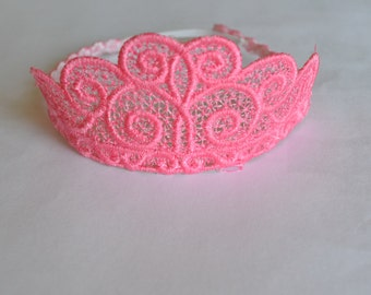 Lace Tiara, Crown for your Sock Monkey or Sock Animal
