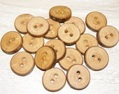"18 Handmade apple wood Tree Branch Buttons with Bark, accessories (0,87"" diameter x 0,20"" thick)"