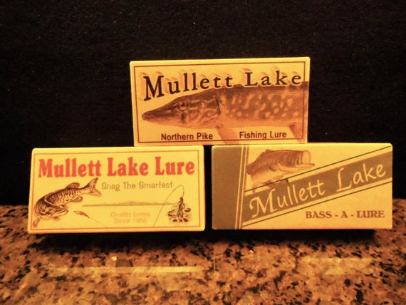 Mullett lake michigan fishing lure boxes cabin lodge by for Mullett lake fishing