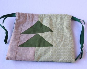 Modern Quilt Medicine Bag- Pine Tree Arrows