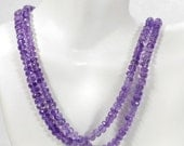 ON SALE Amethyst Rondelles Faceted Beads Purple Rondels February Birthstone Earth Mined Gemstone - 3.8 to 5.8mm - 8 Inch Strand