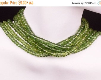 ON SALE Green Apatite Rondelles Faceted Apatite Rondels Earth Mined Gemstone - 4 to 5mm - 2-inch, 4-inch or 8-inch Strand