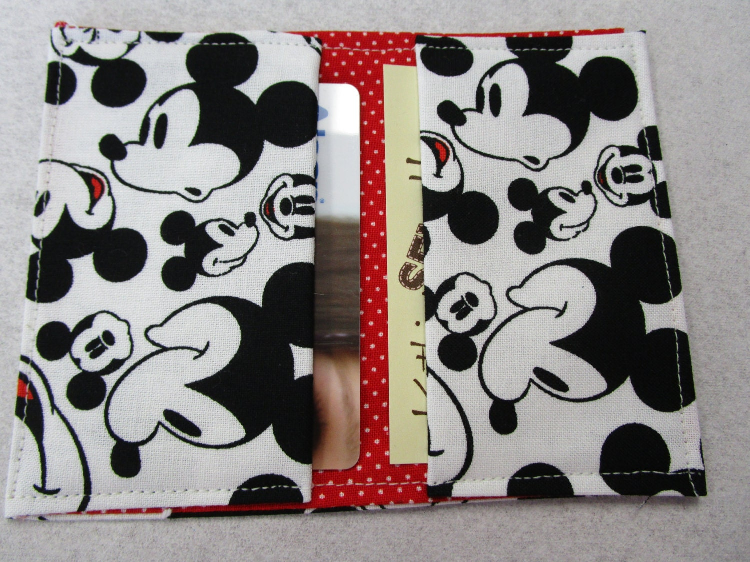 Mickey Mouse Faces Wallet, Disney Pass Holder, Credit Card Wallet ...