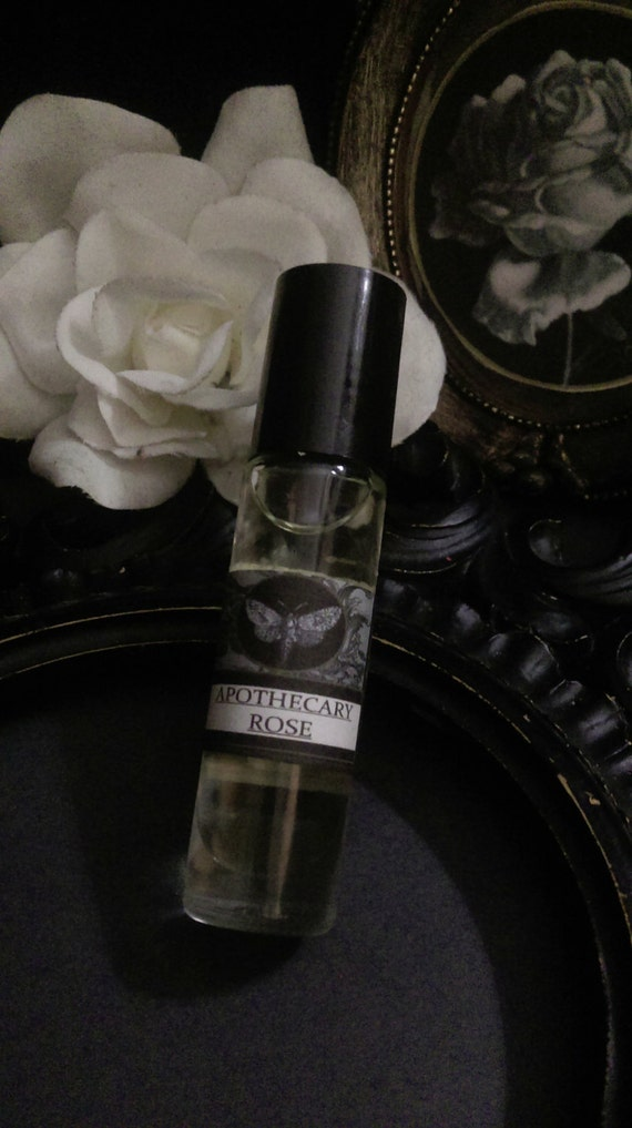 Apothecary Rose Natural Gypsy Alchemy Perfume 1/3 roll on bottle Rose  Absolute Amber