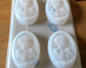 Soap Mold, Cameo Flexible Mold, 5.5 ounce