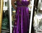 Silk butterfly gown