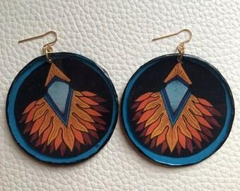 Sun Ray Circle Earrings