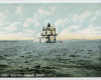 Bug Light Lighthouse Boston Harbor Massachusetts 1907c postcard