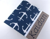 BABY BOOK Boy Baby Memory Book Baby Nautical Book Personalized baby book baby shower book Pregnancy book Baby Journal Navy Anchor Baby Book
