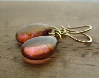 Afterglow Earrings -14K gold
