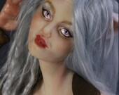 Miqo'te Final Fantasy XIV Fan Art- Cat Girl Polymer Clay Art Doll Sculpture by Amanda Day Dolls featured image
