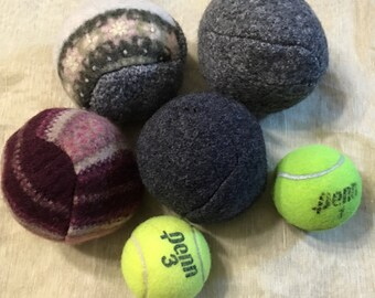 B33 felted wool  laundry Dryer ball sets of 4 upcycled wool sweater twice felted dryer ball to dry cloth naturally reduce chemical