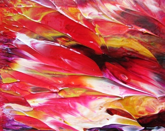 Petals in Abstract original Acrylic Painting