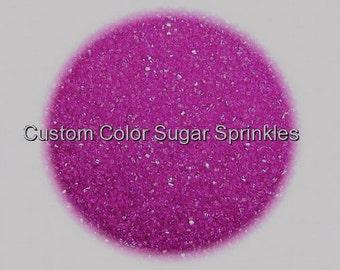 Plum, Fuchsia Sanding Sugar Edible Sprinkles Cake Cookie Decorations Confetti