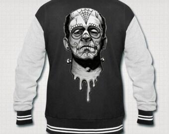 Day of the Dead Frankenstein monster varsity jacket