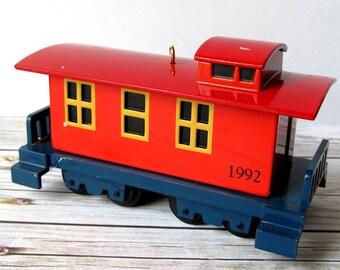 VINTAGE - 1992 Hallmark Christmas Sky Line Caboose Train Ornament - Collectibles