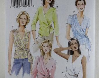 Vogue 7876, Misses' Wrap Top Sewing Pattern, Misses' Top Pattern, Misses' Patterns, Sewing Pattern, Size 6, 8, 10, New and Uncut