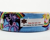 Medical Alert Band for Children Safety I.D. Bracelet - My Little Pony