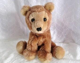Vintage Dakin Plush Tan Bear Bean Bag Bear 1978