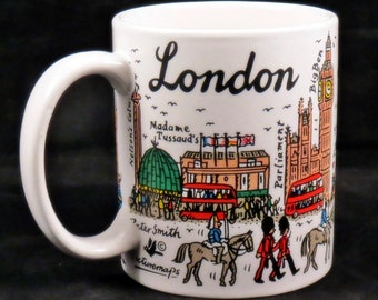 Vintage LONDON Coffee or Tea Mug Cup Landmarks