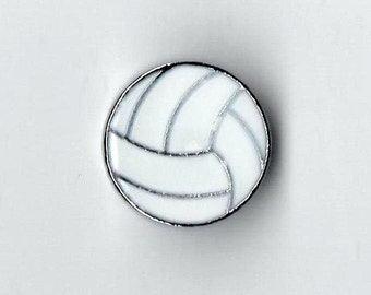 Volleyball Slide Charm - Fits 8mm Wristbands / Collars / Necklace / Bracelet / Key Chain - Ships from the USA (#SC/34)
