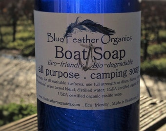 "Boat & Camping Soap ""deck to dishes"" All Purpose Soap 16 oz"
