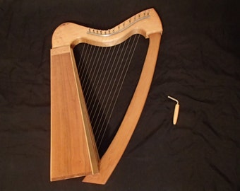 Lap size Wire Harp, Cherry Wood, Neo-Celtic style