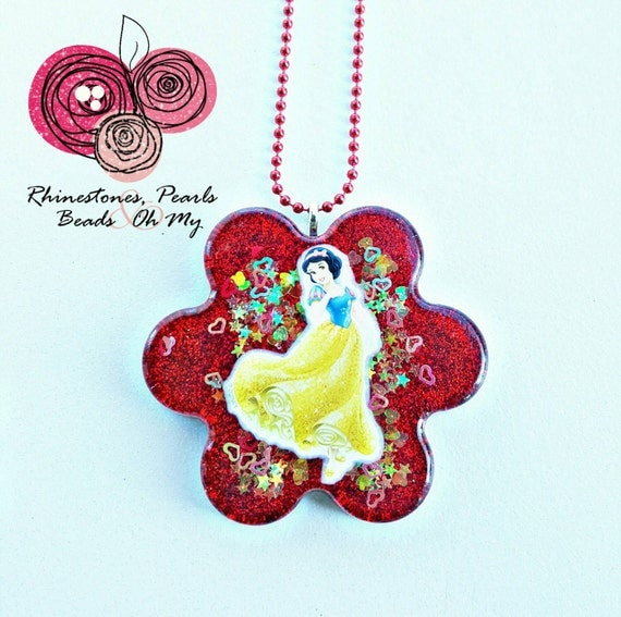 Snow White Necklace Gift For Girl Princess Necklace Gift