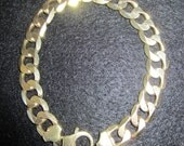 RESERVED Vintage English 9K Gold Non Latin Link Unisex Bracelet