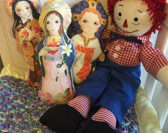 Saint Fabric Doll KIT Jesus Immaculate Heart St. Therese Lisieux - Catholic Saint Doll Softie