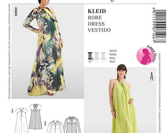 Misses' Backless Maternity Dress in Two Variations  - Sz 8 thru 20 - Burda Style 7106
