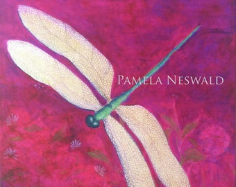 Dragonfly Art Wall Decor Stretched canvas First Quality Giclee Maui Hawaii