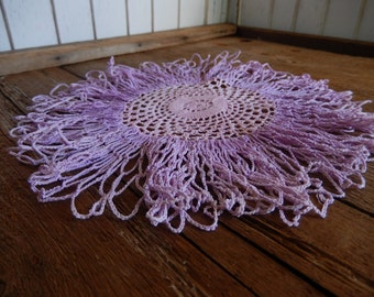 Vintage Doily Romantic Cottage Chic Decor Handmade Pale Pink and Lilac Kitchen Bedroom Home Decor
