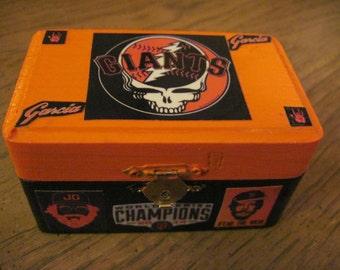 San Francisco Giants Grateful Dead Small Hand Crafted Decoupaged Keepsake Box