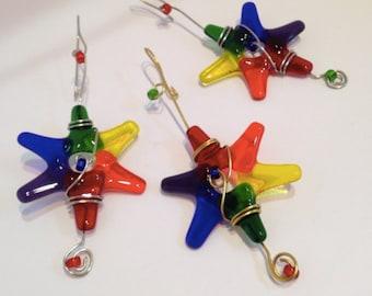 LGBT Fused Glass Stars - Rainbow colors