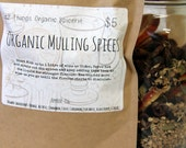 Organic Mulling Spices - 1 Quart Litre Size - Mulled Wine - Spiced Cider