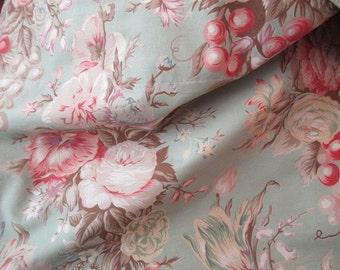 vintage  Ralph Lauren 7 YARD wide valance - floral, flowers, roses, Charlotte